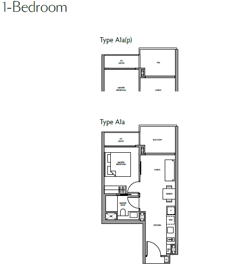 1-Bedroom Type A1a